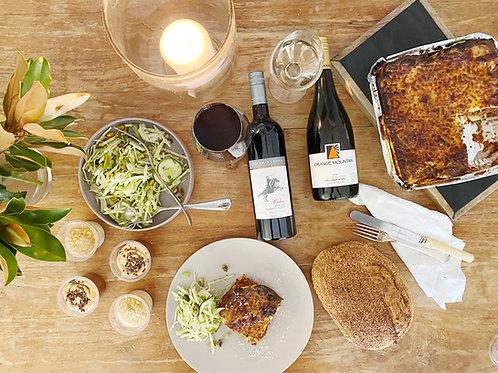 Family Lasagne Hamper W Matching Wine
