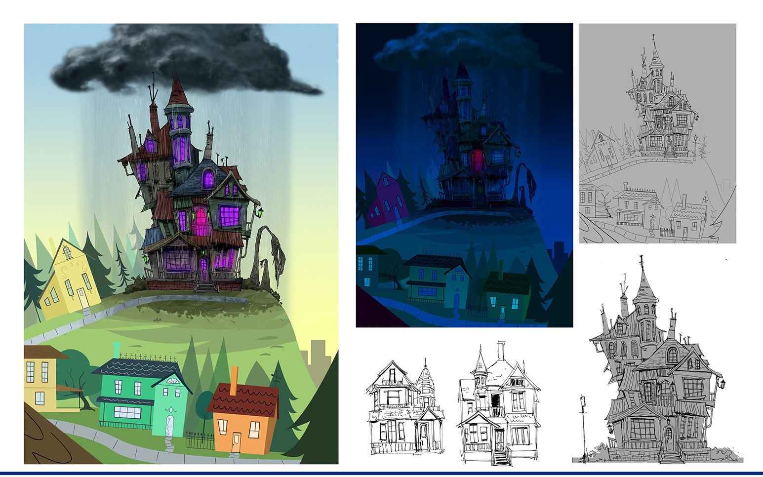 Haunted house in BoxTroll and Foster's Home For Imaginary Friends Style