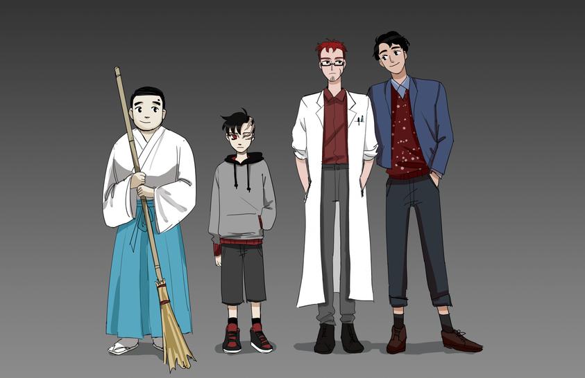 Walton, Monster, Frankenstein, Henry