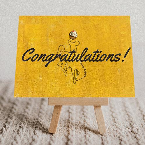 """""""Cowboy Congratulations"""" Message Card"""