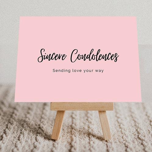 """""""Sincere Condolences"""" Message Card"""