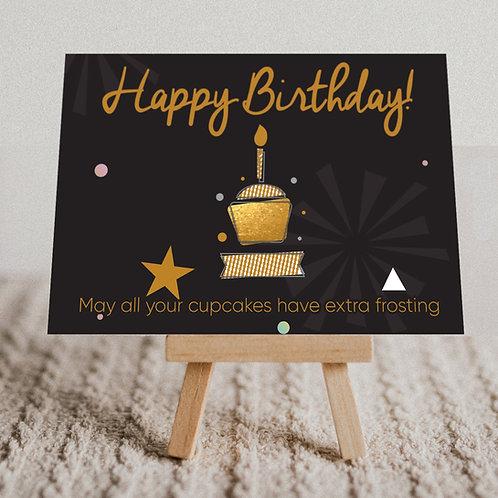 """Happy Birthday"" Message Card"