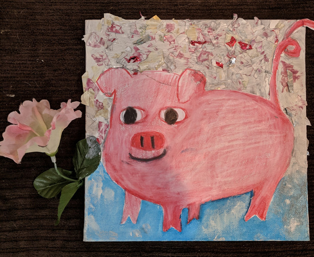 Flower and Pig