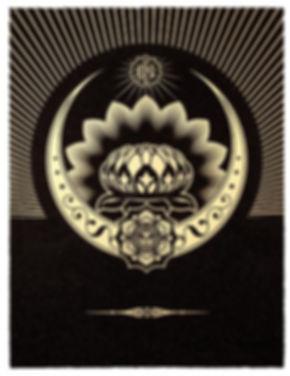 Fairey - obey-lotus-crescent-black-gold.