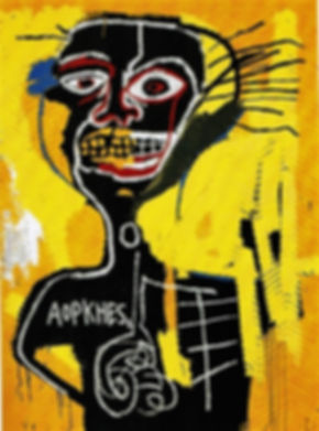 Basquiat - Cabeza 1982-screenprint 40x50