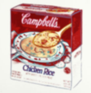 Warhol - Campbells soup box chicken rice