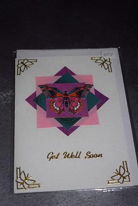 Handmade Butterfly Get Well Soon Card