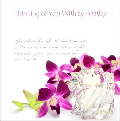 Thinking of you- Orchid Card