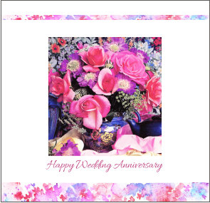 Wedding Anniversary-Roses Card