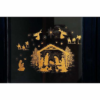 2 Christmas Window Stickers
