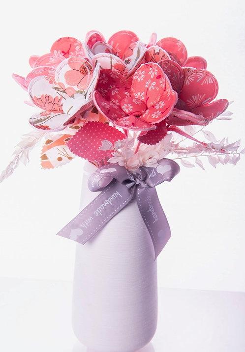 Coral Fabric flower stem