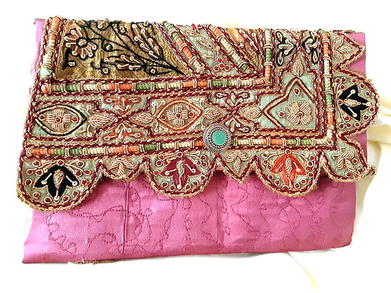'India Recycled Clutch Bag'
