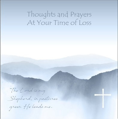 Thoughts and Prayers- Mountains Card