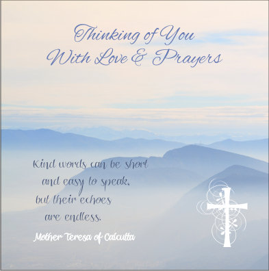 Thinking of You Mother Theresa Card