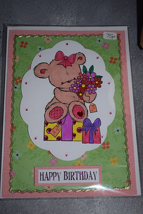 Handmade Cute Happy Birthday Card
