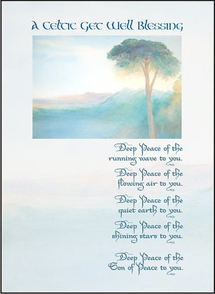 A Celtic Blessing Card