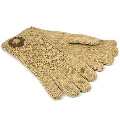 Ladies' Gloves (Oatmeal)