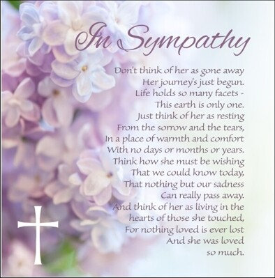 Sympathy Card for Her