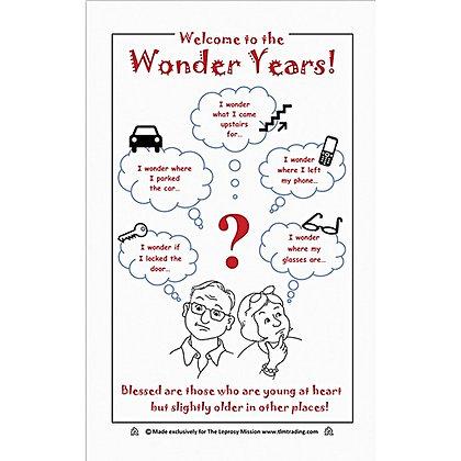 Welcome tothe Wonder Years Tea Towel