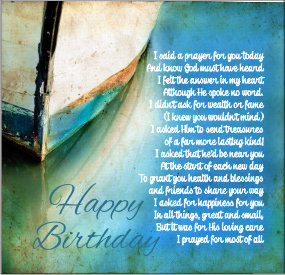 Birthday Prayer Boat Card