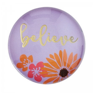 Magnanimous Round Magnet-Believe