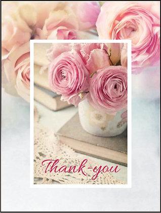 Thank-You 'Ranunculus' Card