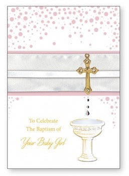 Baptism of Your Baby Girl Card /3D