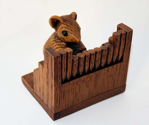 Church Mouse Playing the Organ