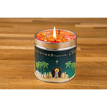 'Christmas Begins with Christ' Candle