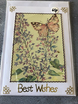 Handmade Best Wishes Card