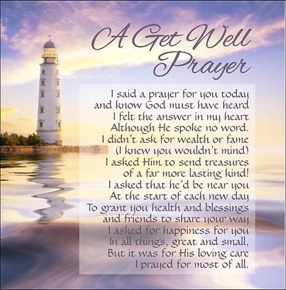 A Get Well Prayer