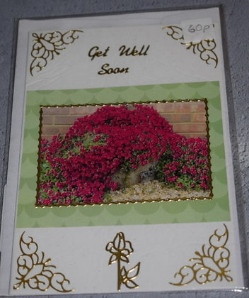 Handmade Flower Get Well Soon Card