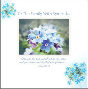 To The Family, with Sympathy Flowers Card