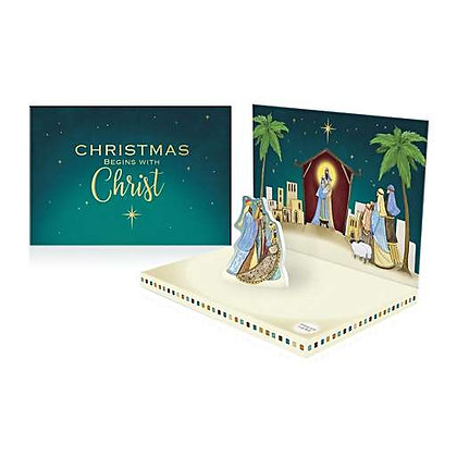'Christmas Begins with Christ' Music Box Card