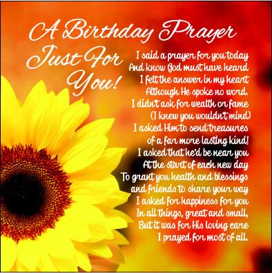 A Birthday Prayer- Sunflowers