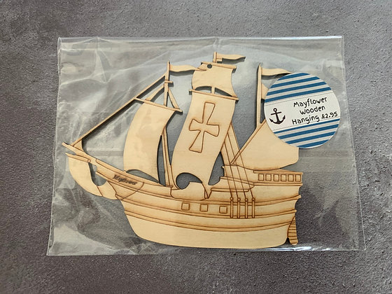 Mayflower Wooden Hanging