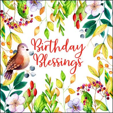 Birthday Blessings Card