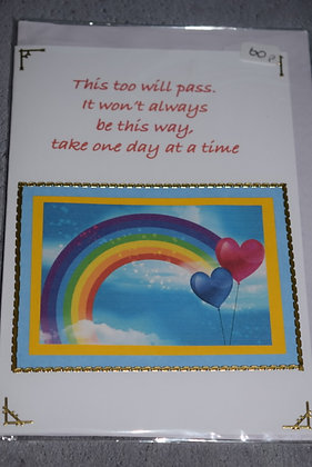 Handmade This Will Pass Card