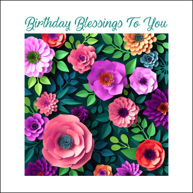 Birthday Blessings Card