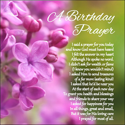 A Birthday Prayer Card