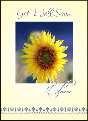 Get Well Soon Sunflower Card
