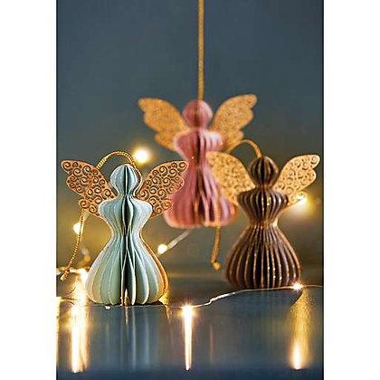 3 Pastel Angel Decorations