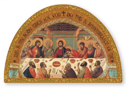 Wood Plaque/Icon/Gold Foil/Last Supper