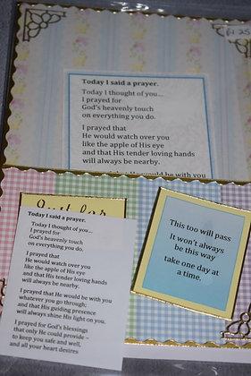 Handmade Today I Said A Prayer Card