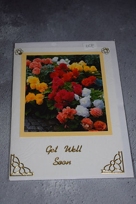 Handmade Floral Get Well Soon Card