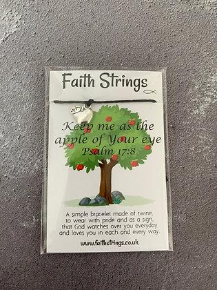 Keep Me As The Apple Of Your Eye Faith String