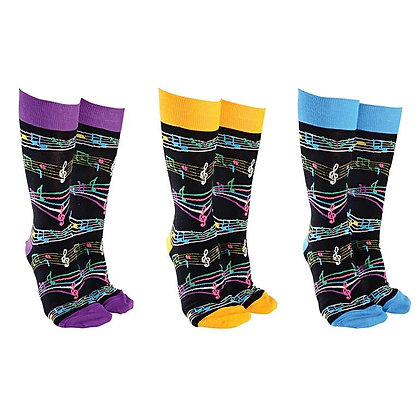 Musical Notes Socks (assorted colours)