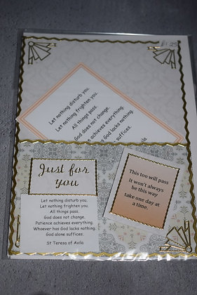 Handmade Just Up For You Card