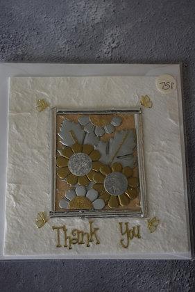 Handmade Silver/ Gold Thank you Card