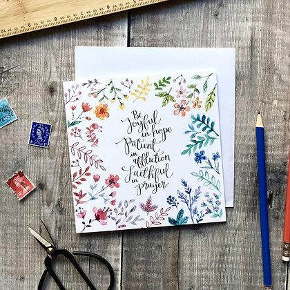 Be Joyful in Hope Card